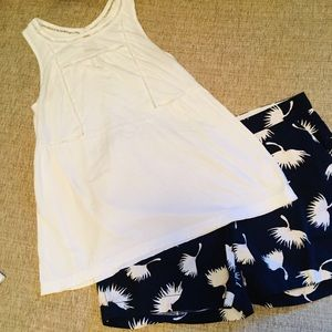 CUTE 2PC Old Navy Outfit... Small Top & 4 Shorts